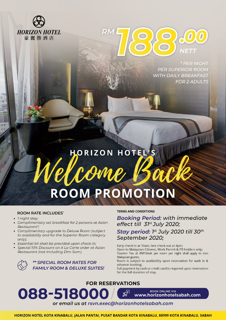 Room Promotion Welcome Back